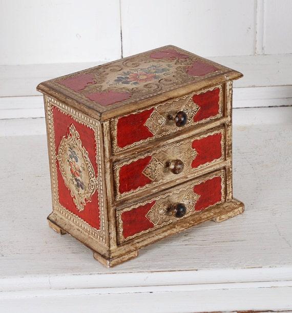 Vintage Italian florentine jewelry box trinket min