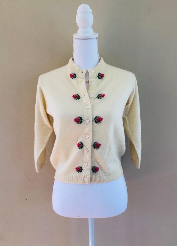 Vintage Ballantyne Cashmere Intarsia Sweater