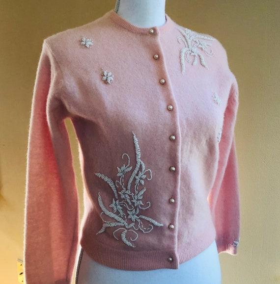 1950s Beaded Sweater