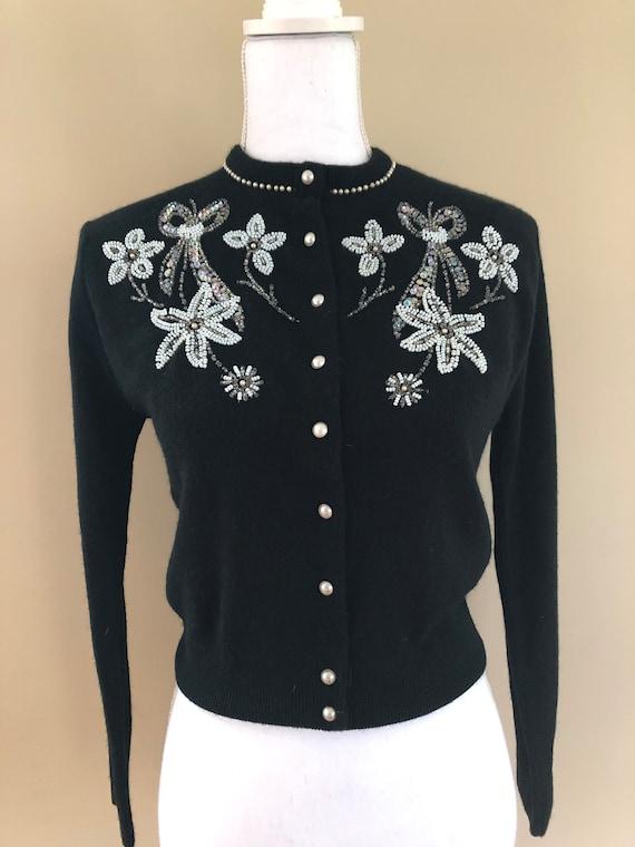 1950s Beaded Sweater - image 5