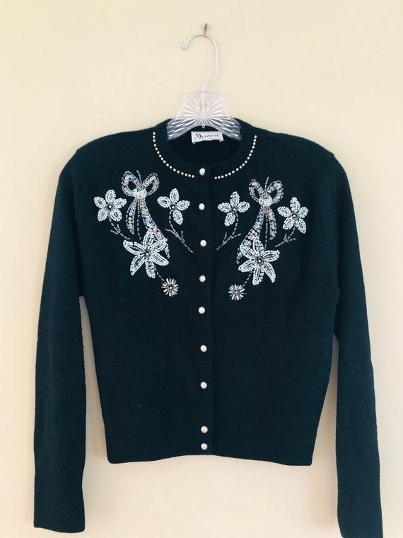 1950s Beaded Sweater - image 8