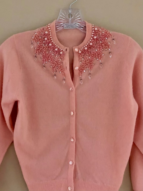 1950s Beaded Cashmere Sweater