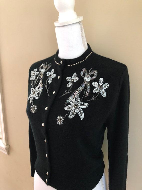 1950s Beaded Sweater - image 1
