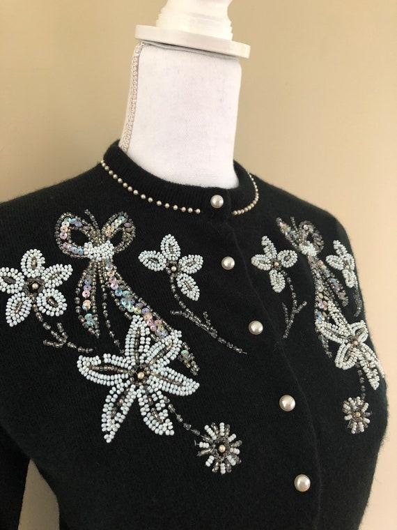 1950s Beaded Sweater - image 2