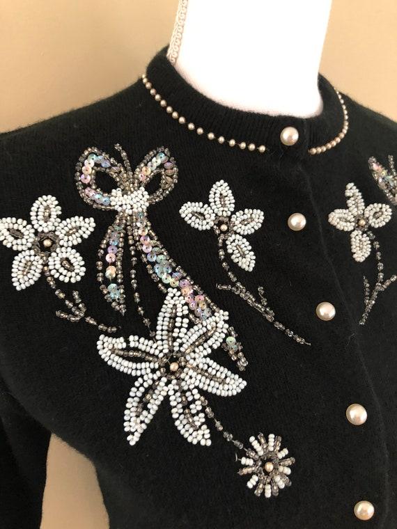 1950s Beaded Sweater - image 3