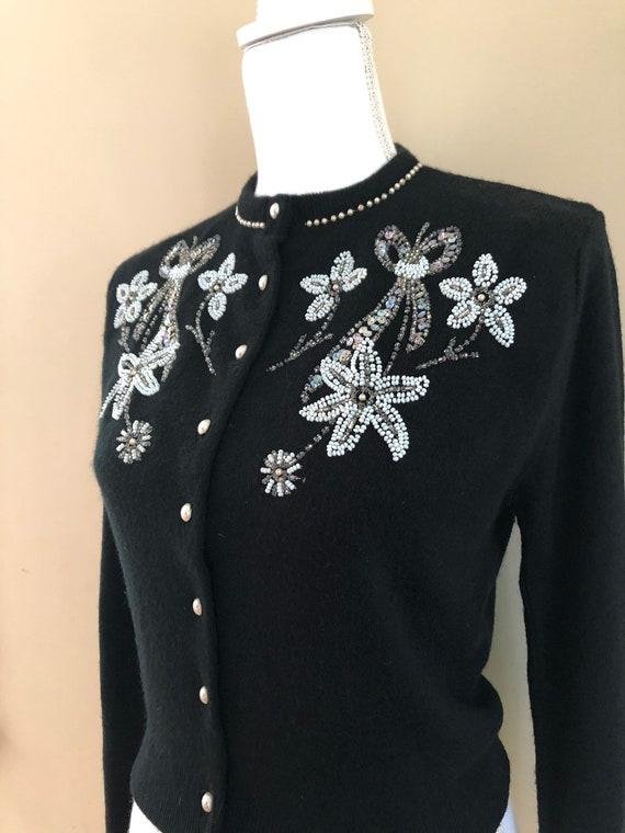 1950s Beaded Sweater - image 9
