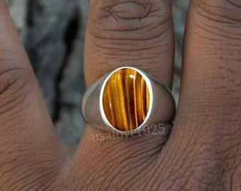 Handmade Mens Ring 50/% OFF Natural Blue Labradorite Gemstone Mens Ring 925 Sterling Silver Ring Gift For Men Round Stone Ring Band Ring