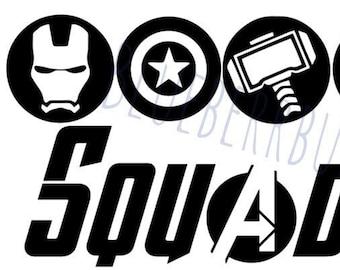 Avengers Svg Etsy