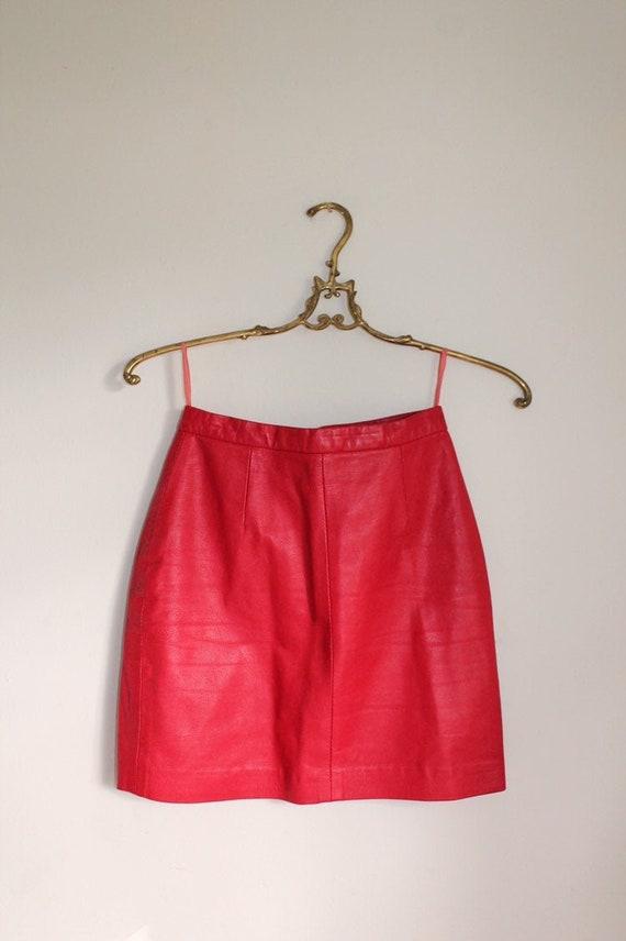 90's North Beach Leather Red Mini