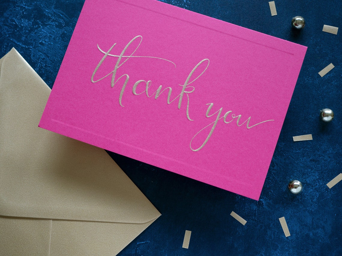 luxury thank you cards rainbow colour multi pack set of  etsy