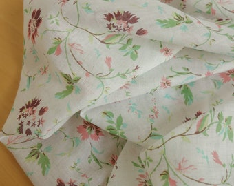 Garden Cotton Voile Gauze - Deadstock Fabric By the Yard