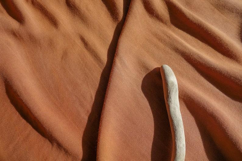 Cinnamon Burnt Orange Rayon Challis  Tie Dye Apparel Fabric image 0