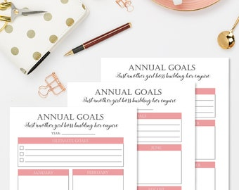 Undated Digital Planner, Digital Life Planner, Printable Planner, Goal Planner, Social Media Planner, Undated Weekly Planner Printable