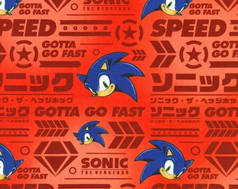Sonic The Hedgehog Fabric Etsy