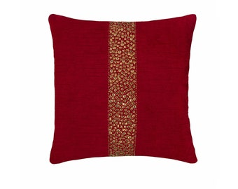 Show Stopper Mustard Yellow Beaded Moroccan 16x16 18x18 20x20 22x22 24x24 26x26 Hand Embroidered Decorative Throw Pillow Covers for Couch