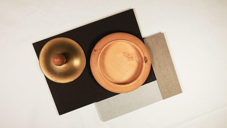 Vintage Nordic Jewelry Box Round