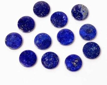 8x8 20x20 mm 12x12 10x10 Elegant Natural Lapis Lazuli  6x6 Both Side Polished Gemstones Flat Coin 15x15
