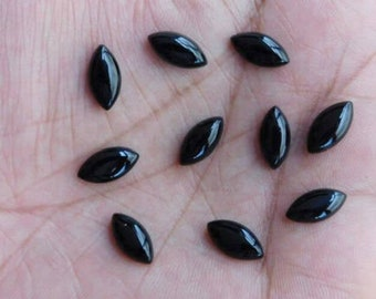 Details about  /100 Pieces 7x14 mm Marquise Natural Black Onyx Cabochon Jewelry Making Stones