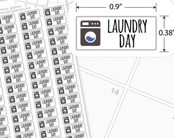 Laundry Day Planner Stickers, 106H