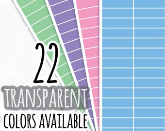 Transparent Rectangle Highlighting Planner Sticker, Writable and Removable, 129T