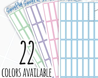 Rectangle Planner Stickers with White Center, 126H