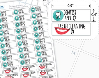 Dentist Appointment Planner Stickers, 113H
