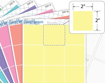 """Transparent 2"""" Square Highlighting Planner Sticker, Writable and Removable, 159T"""
