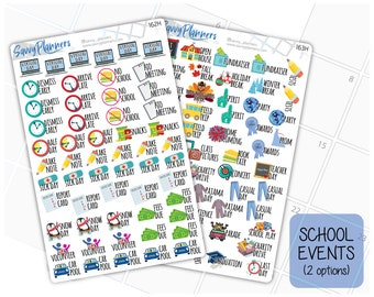 School Event Planner Stickers (162H & 163H)
