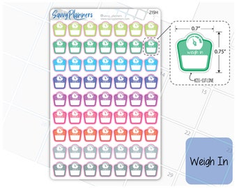 Weigh In Planner Stickers, 219H