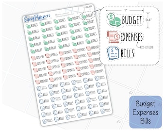 Budget Expenses Bills Planner Stickers, 148H