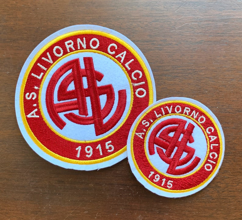 Free Shipping AS Livorno Available in 3 Sizes Iron-On Team Logo Patch Serie C
