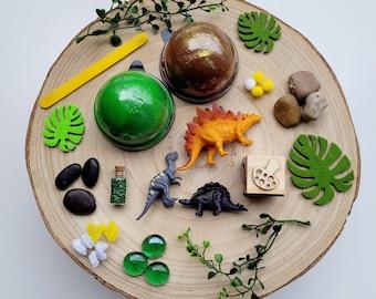 Playdough sensory kit   Busy box   dinosaur sensory kit   Loose parts play   kids gifts   gift ideas   Homemade playdough