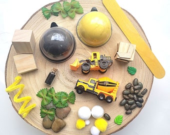 Playdough sensory kit   Busy box   Construction sensory kit   sensory bin   Loose parts play   kids gifts   gift ideas   Homemade playdough
