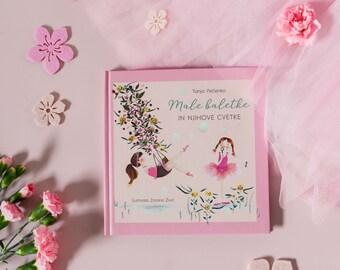 """Ballerina book. Illustrated book """"Male baletke in njihove cvetke."""" Ballerinas. Kids anecdotes."""