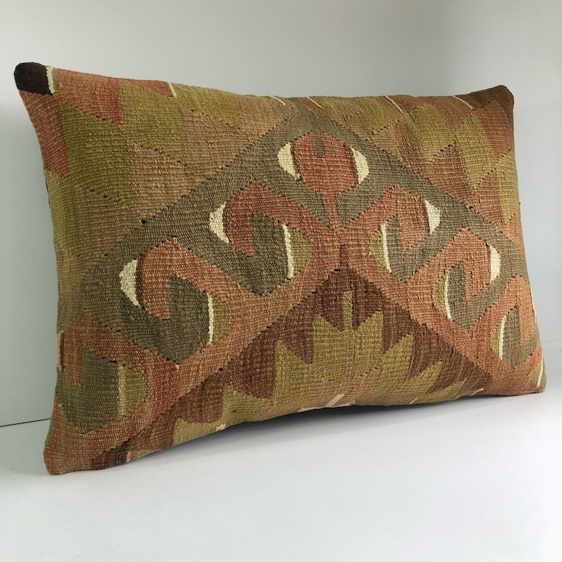 Large Pillow Vintage Kilim pillow housewarming gift kelim kussens 60x40 cm Unique Home Decor Lumbar Pillow Kilim Pillow 16x24
