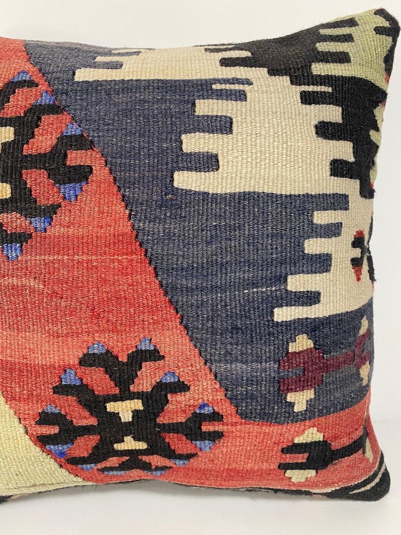 Kilim Pillow Cover 16x16-Decorative Pillow-Unique Home Decor-housewarming gift-Sham Cover
