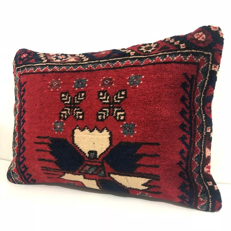 Large Pillow Vintage Kilim pillow Unique Home Decor Lumbar Pillow Kilim Pillow 16x24 housewarming gift kelim kussens 60x40 cm