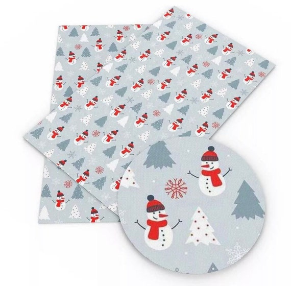 Christmas Winter Faux Leather Sheet