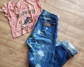 Wrangler distressed denim jeans