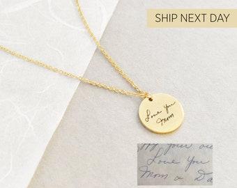 Actual Handwriting Necklace, Handwritten Necklace, Handwritten Message Necklace, Personalized Wedding Bridesmaids Gift, Memorial & Loss Gift