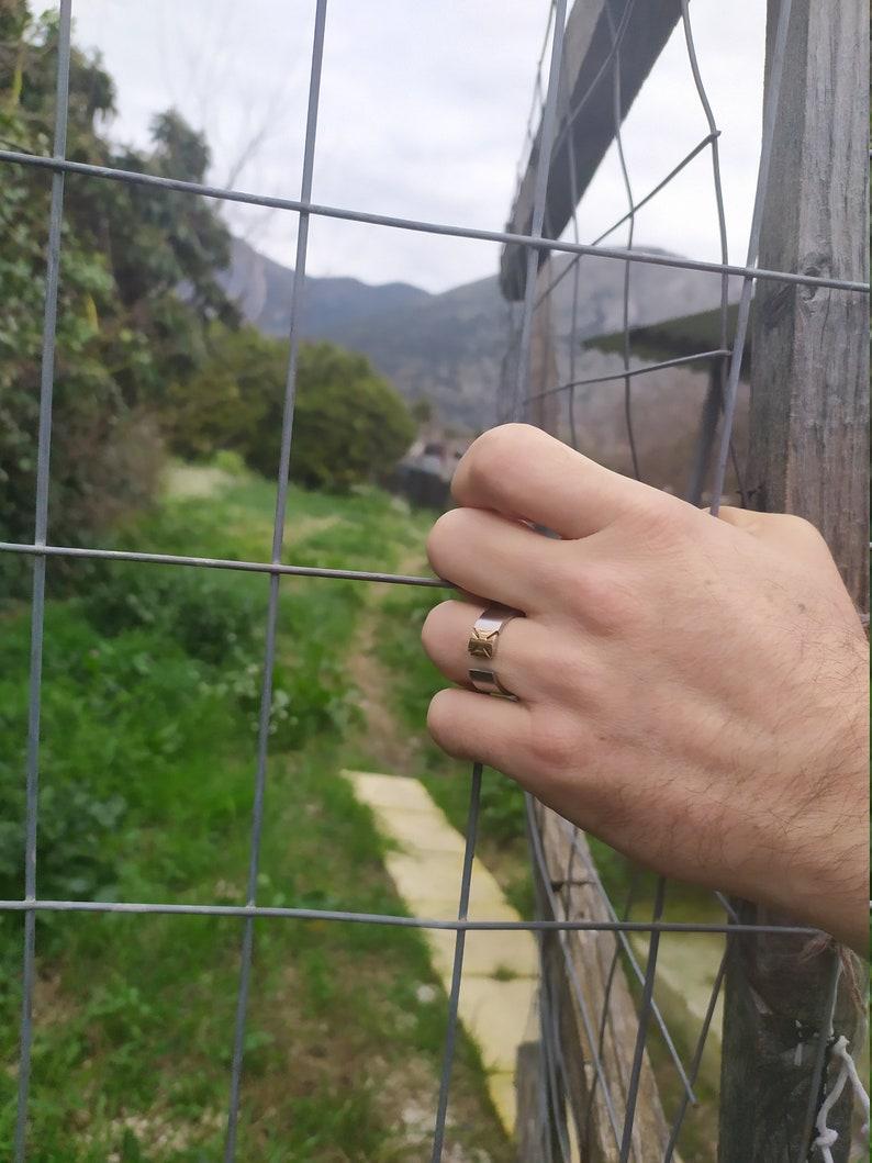 men/'s rings rings boho ring unique steel Ring steel rings vintage ring men/'s jewelry
