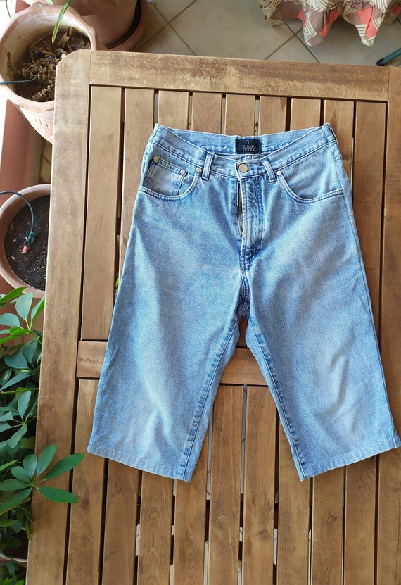 vintage 90's Trussardi denim bermuda, denim shorts