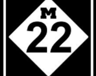 New M22 Vinyl Decal for Cars, water bottles, Yetti Cups, Crafts , Coffee Mugs You Pick the Color and Size