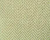 Eco Zig Zag Upholstery Drapery Fabric Green