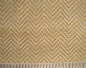 Eco Zig Zag Upholstery Drapery Fabric Yellow