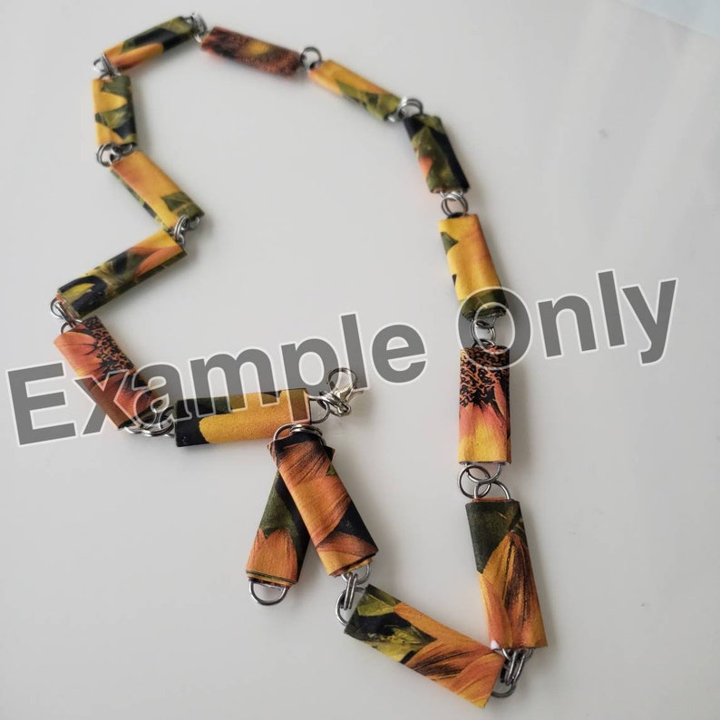 flat beads Paper beads recycled paper beads