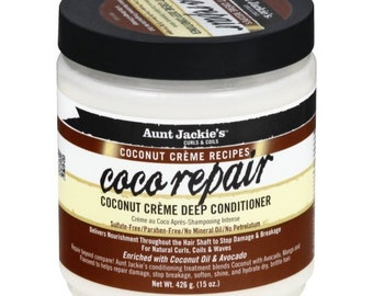 Aunt Jackies Coconut Creme Recipes Coco Repair Coconut Creme Deep Conditioner 15 oz