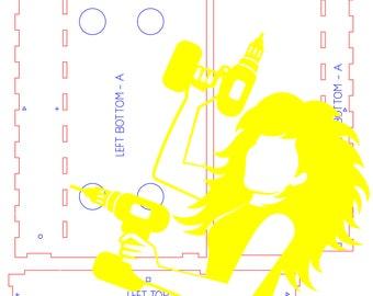 Laser Files - DIY Blank Book Nook Diorama Kit