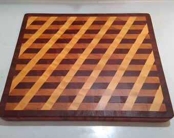 100/_1749 Cherry End Grain Cutting Board  Chopping Block