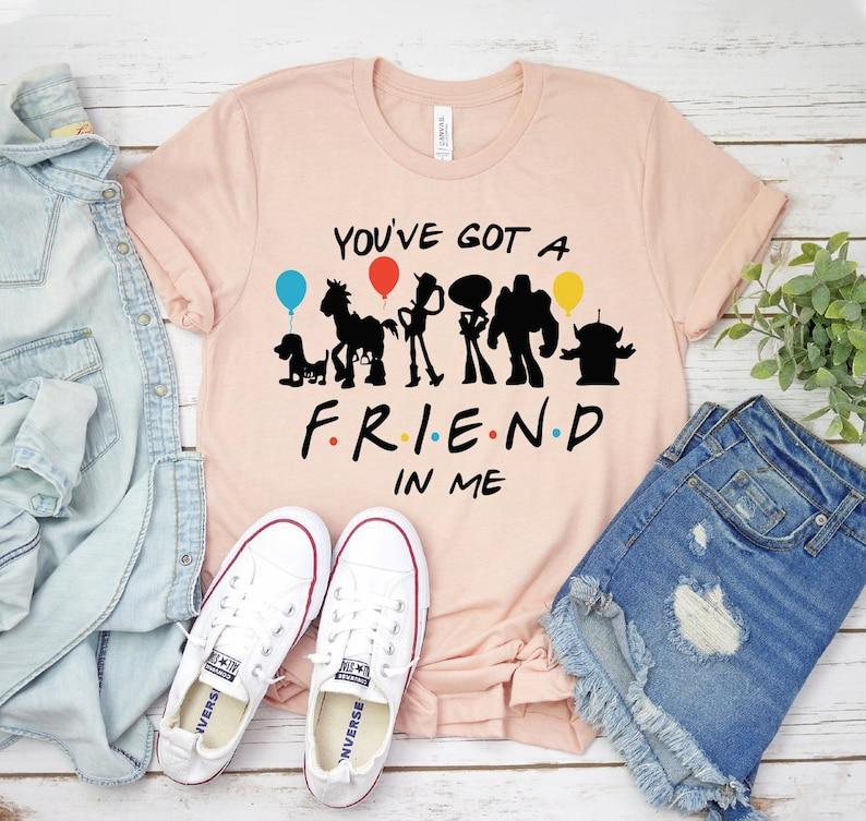 Gift For Her Buzz Light Year Tshirt You/'ve Got A Friend In Me T-shirt Vacation Trip Shirt Friends Love Shirt Friendship Day T-shirt